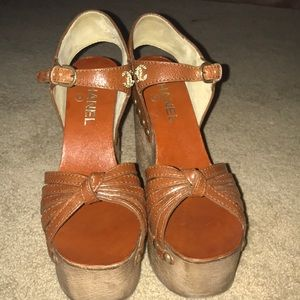 CHANEL Shoes - Chanel brown wedge heels